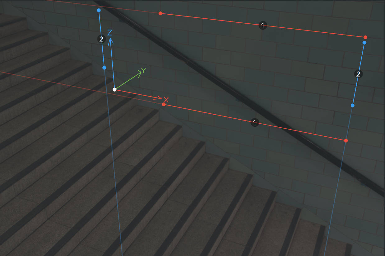 Moving vanishing point controls independently with rectangle mode turned off