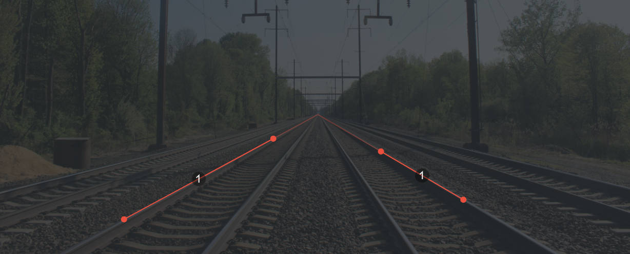 Vanishing point control points